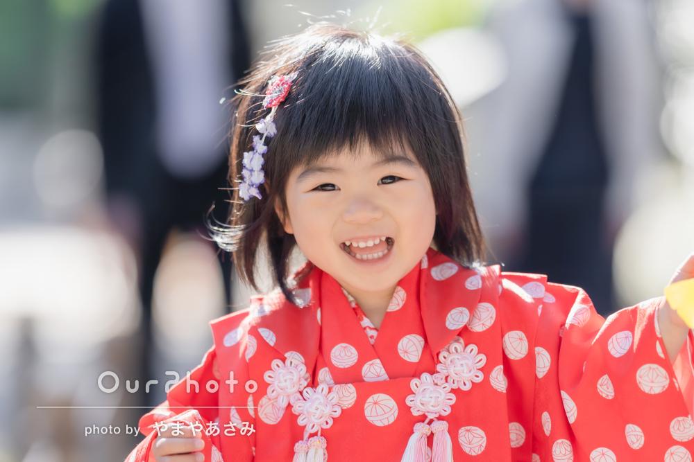 「撮影を楽しめてとても素敵な思い出に」3歳の女の子の七五三の撮影