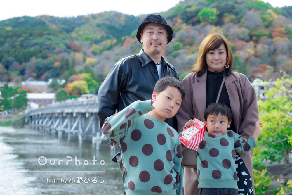 「思い出に残る素敵な写真をたくさん撮って頂きました」家族旅行の撮影