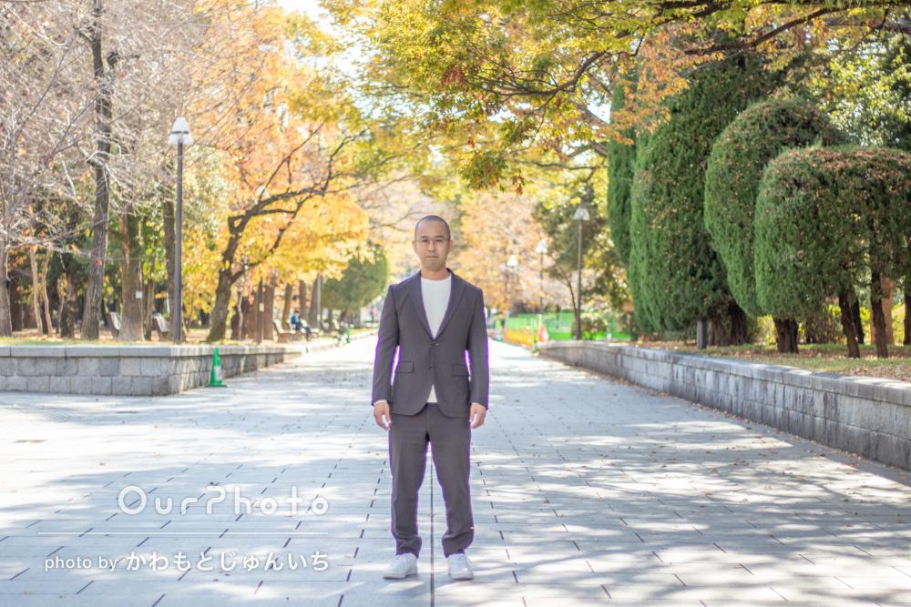 「実績も十分で全面的に安心してお任せ」男性のプロフィール写真の撮影