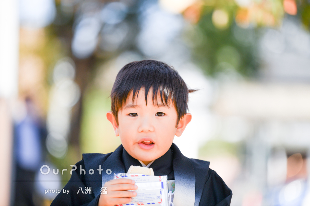 「親が向けたカメラでは撮れない子供の表情」5歳の七五三の撮影