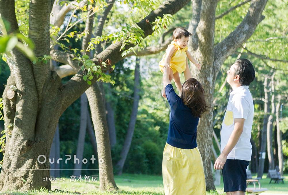 「笑った瞬間を確実に撮影してくださいました」誕生日記念で家族写真の撮影