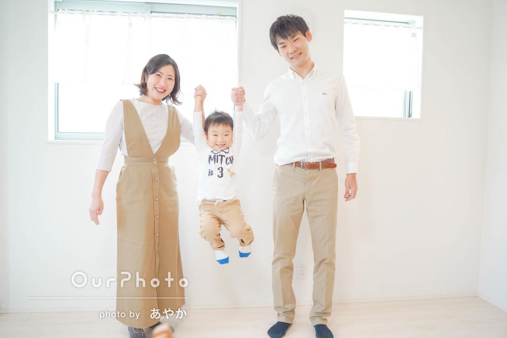「家族みな和やかに撮影を楽しむことができ」年賀状用の家族写真の撮影