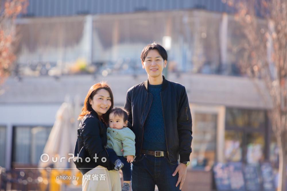「緊張していた子どもも最後にはリラックスして撮影」家族写真の撮影