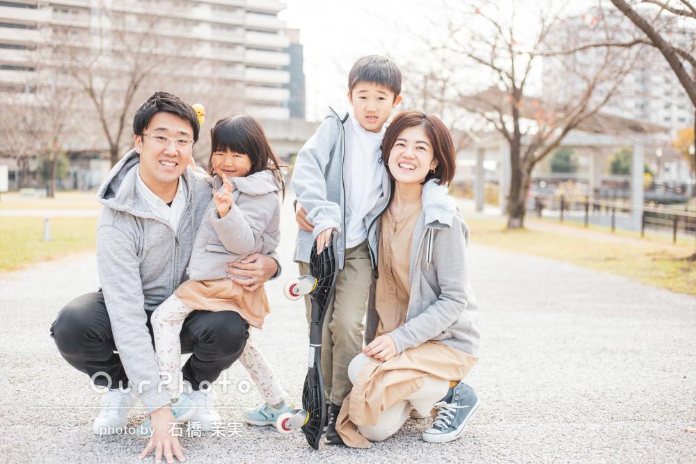 「いろんなパターンの撮影ができてよかった」家族写真の撮影
