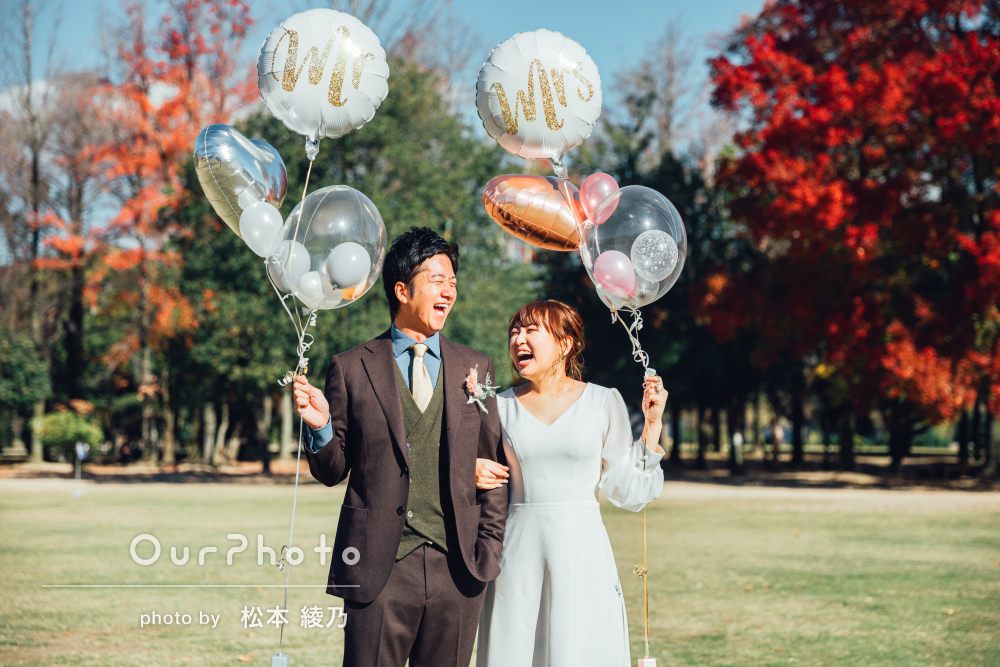 「思い出に残る素敵な時間でした」結婚式の前撮りでカップルフォトの撮影