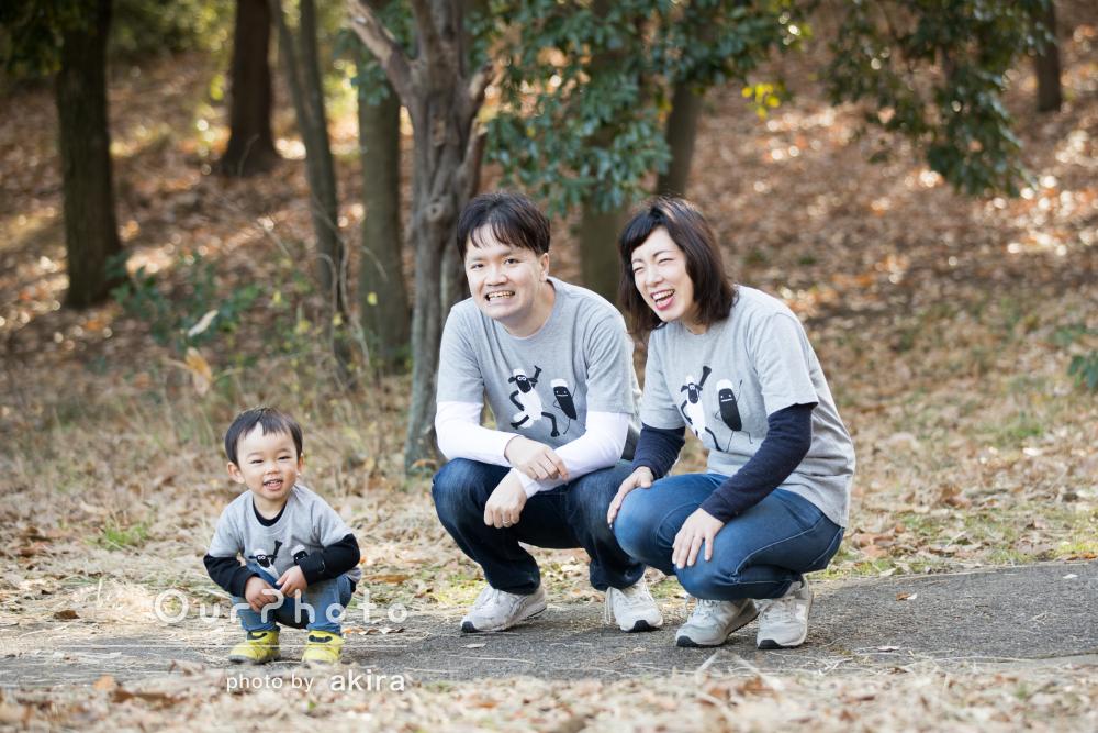 「素敵な写真をたくさん撮っていただき」お出かけ先で家族写真の撮影