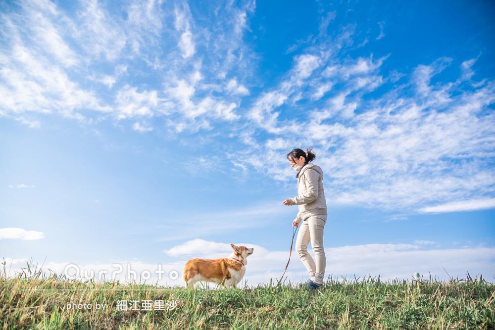 「どの写真も素敵に撮っていただきました」愛犬とのペット写真の撮影