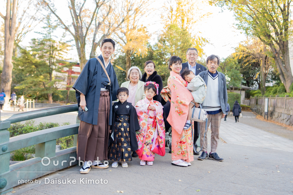 「写真の仕上がりは言うことなし」家族みんな和装で3姉弟の七五三の撮影