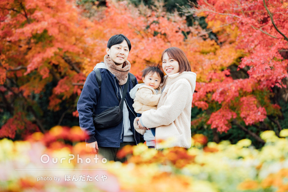 「話しやすくて息子もとてもリラックス」1歳の記念に家族写真の撮影