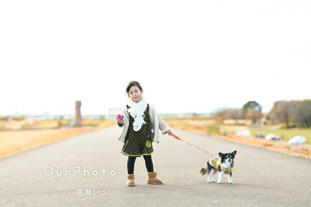 「でき上がり写真に家族皆大満足です」絆が感じられるペット写真の撮影