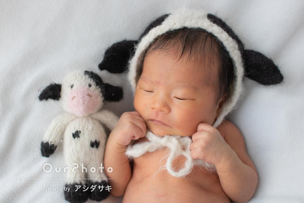 「赤ちゃんも大変安心していました」自宅でニューボーンフォトの撮影