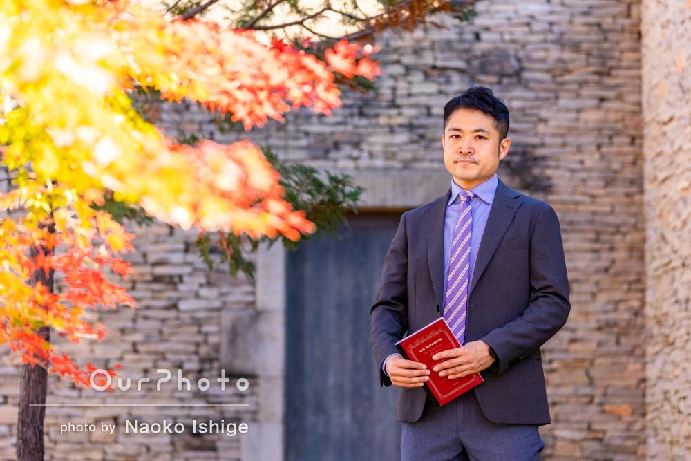 スーツで様々なバリエーションのビジネス用のプロフィール写真の撮影