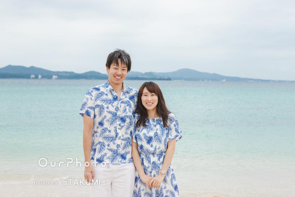 「最高の思い出ができました」沖縄ビーチでのカップルフォトの撮影