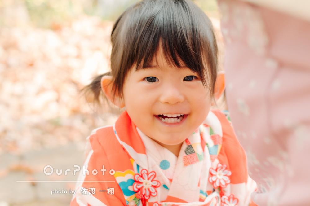 「とても素敵な写真に満足しています」和装で年賀状用の家族写真の撮影