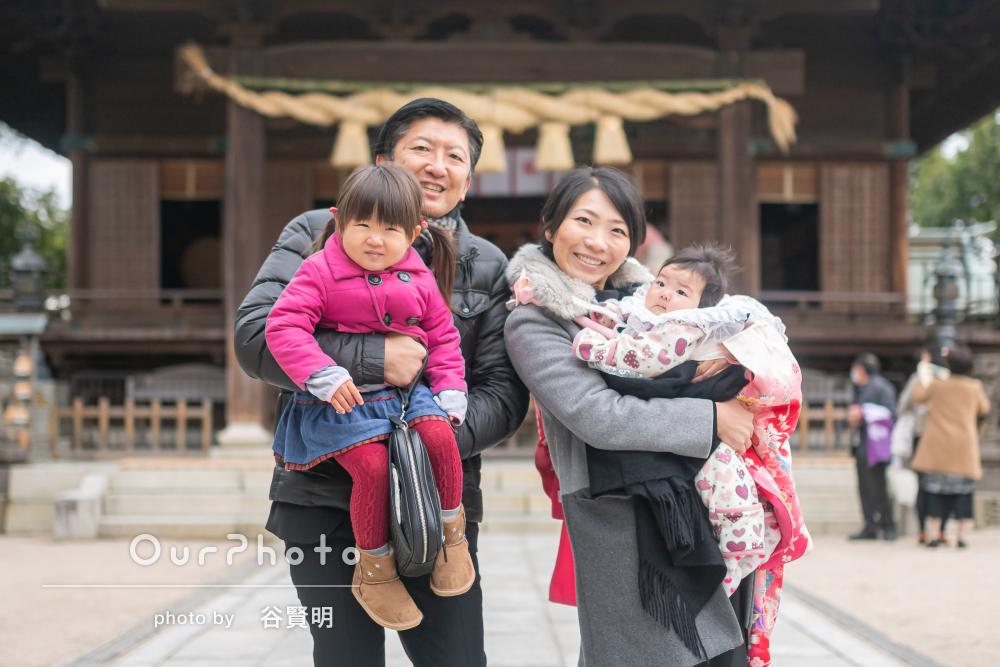「いい笑顔の写真がたくさん」赤ちゃんも笑顔なお宮参りの撮影