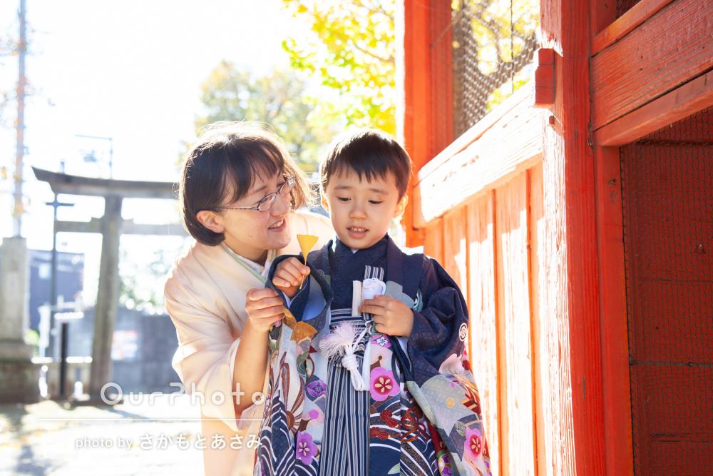 「楽しそうな笑顔の子どもの写真が沢山」イチョウの中で七五三の撮影
