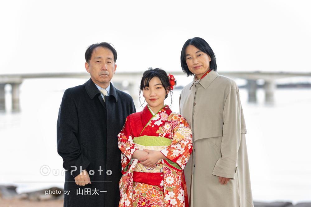 「娘のいい表情を引き出してもらい大満足です」成人式記念の家族写真