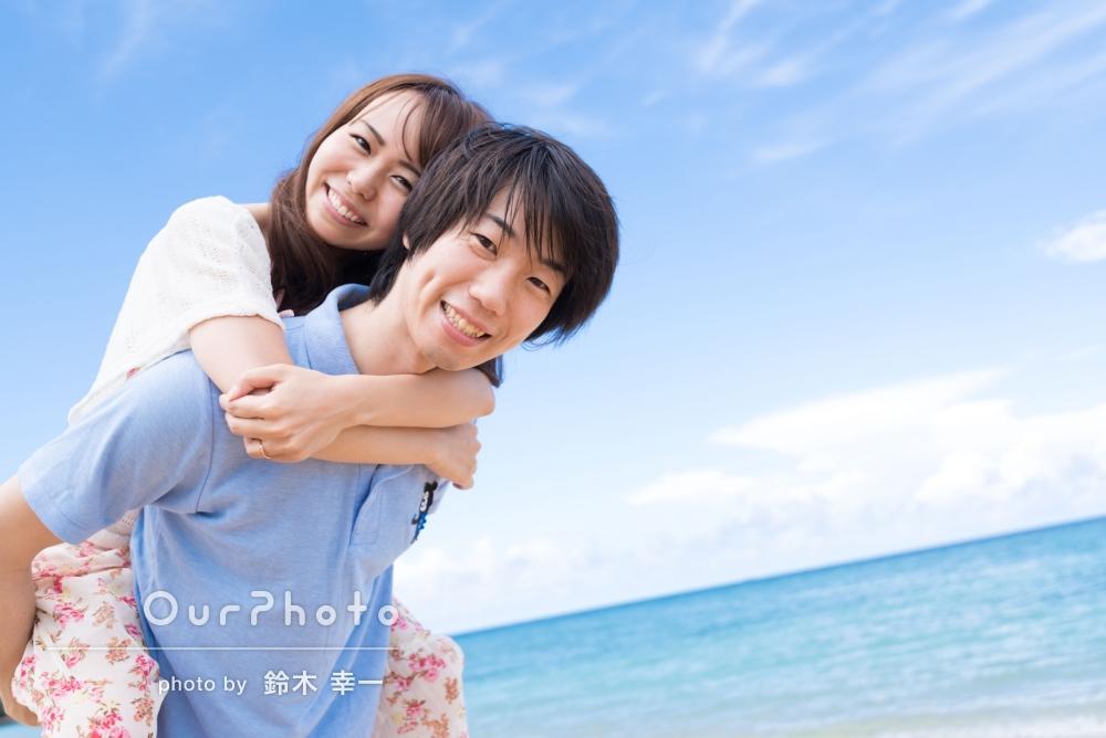 青い空!青い海!沖縄でのカップル撮影