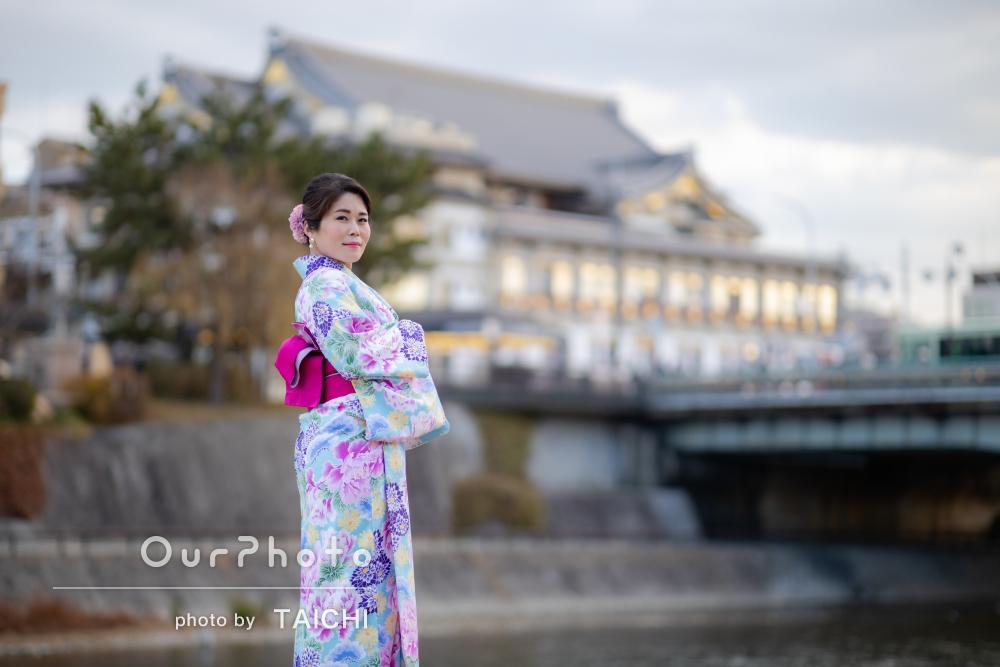「とても素晴らしく魅力的な方との出会いに感謝」京都旅行の撮影