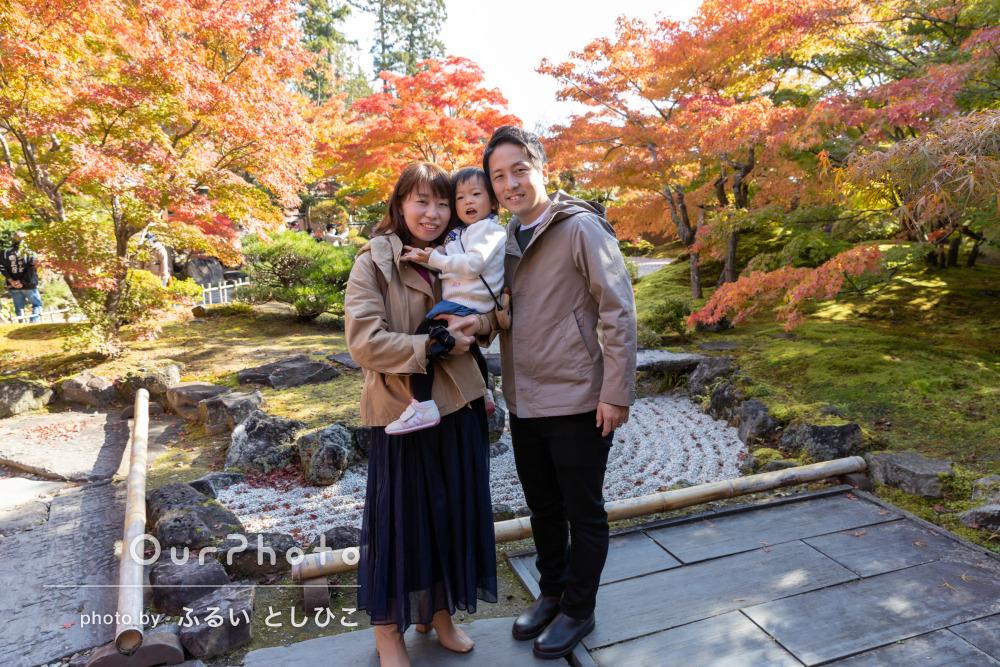 「サービス満点の対応」色鮮やかな紅葉や松島の景色と共に家族写真の撮影