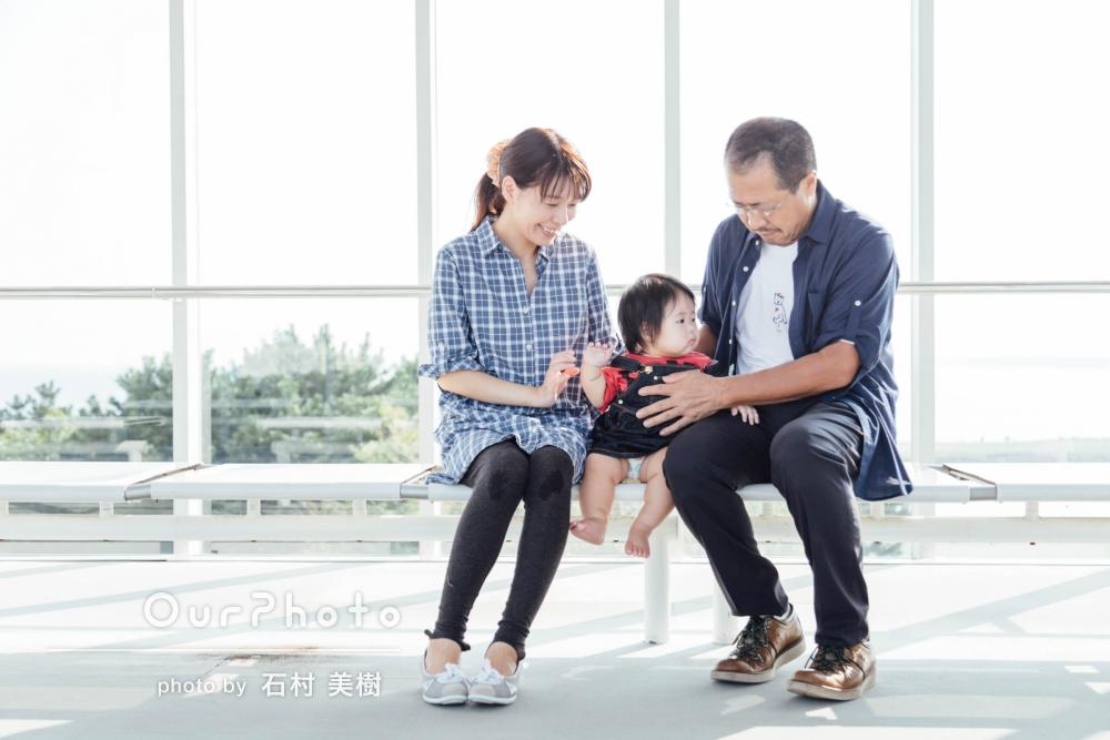 「どの写真も大切にします」綺麗な緑が印象的!家族写真の撮影