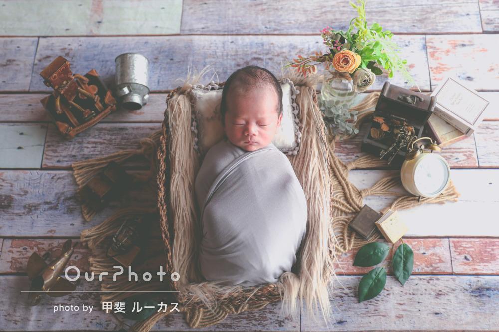 「赤ちゃんを丁寧に大切に撮影して」ニューボーンフォトの撮影