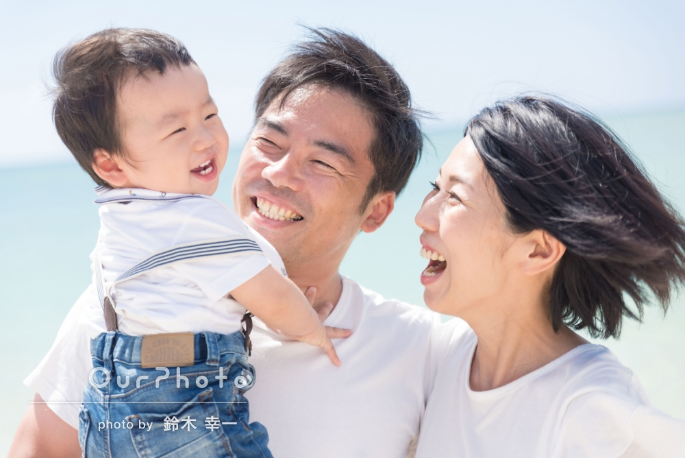 「気さくで明るくて写真も抜群で言うことなし」沖縄での家族写真の撮影