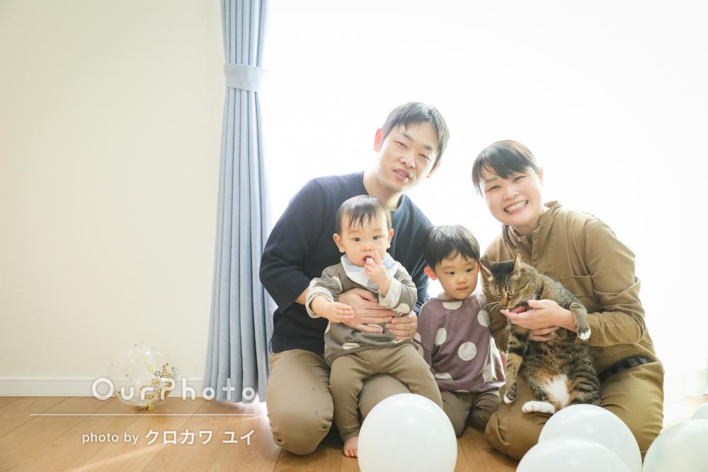 「素敵な写真を撮って頂きました」1歳の誕生日記念に家族写真の撮影