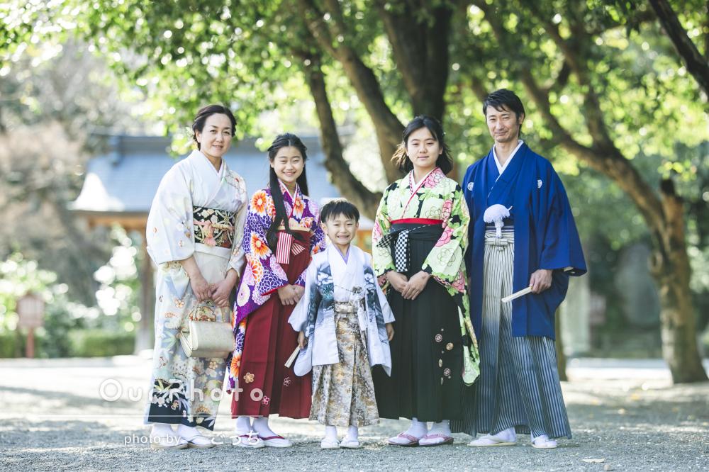 「家族全員一生の宝物となりました」全員和装で華やかな七五三の撮影