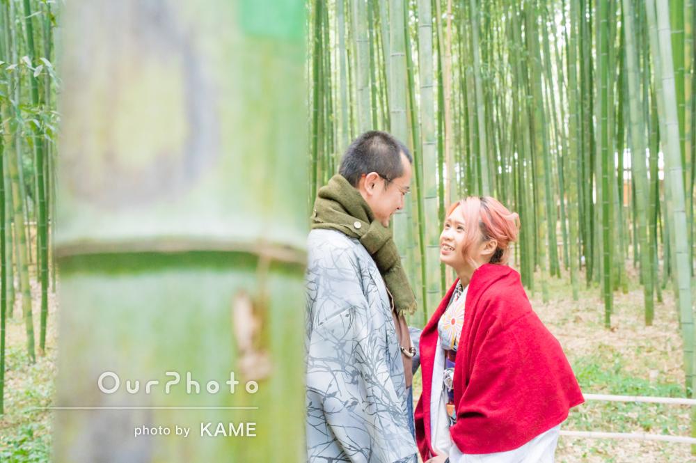 和服を着て街を散策!竹林や街中でSNS映えするカップルフォトの撮影
