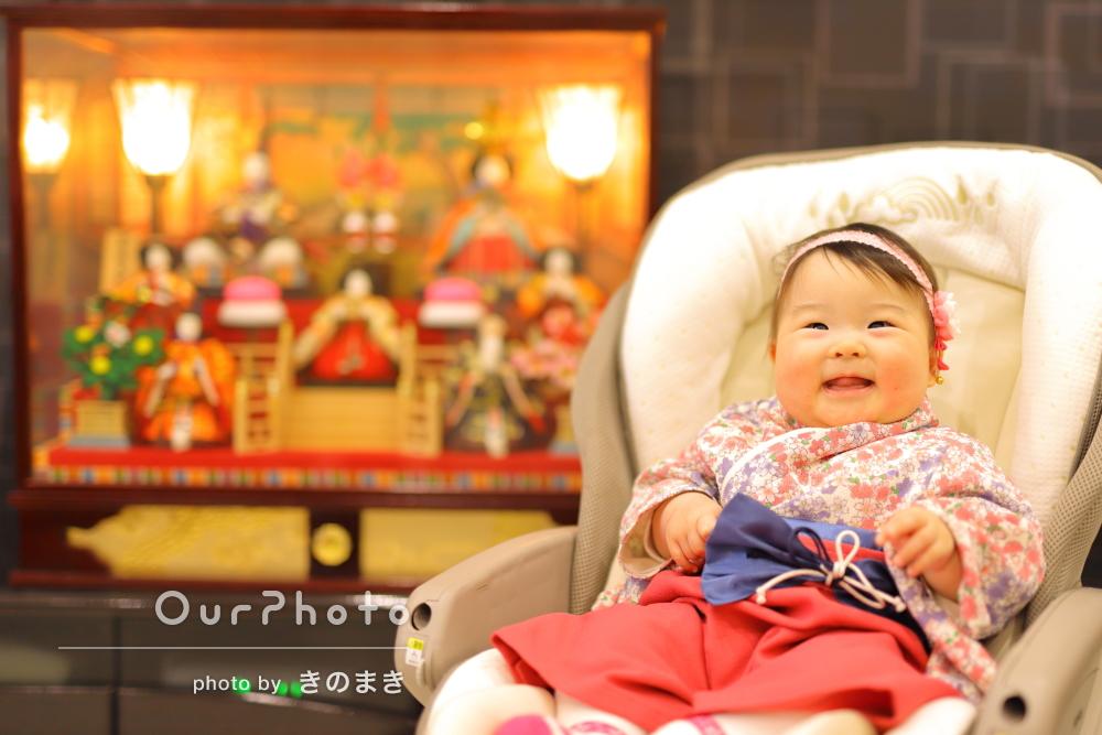 「子どもも安心して撮影することができ」初節句を祝う家族写真の撮影
