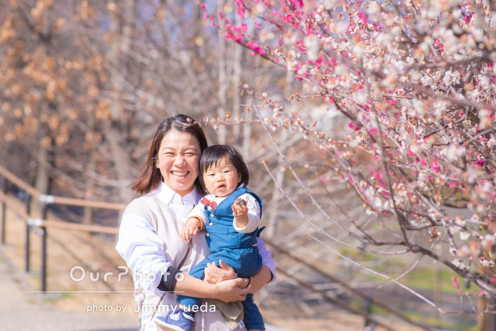 「子供の自然な表情をすごく素敵に」1歳の記念に家族写真の撮影