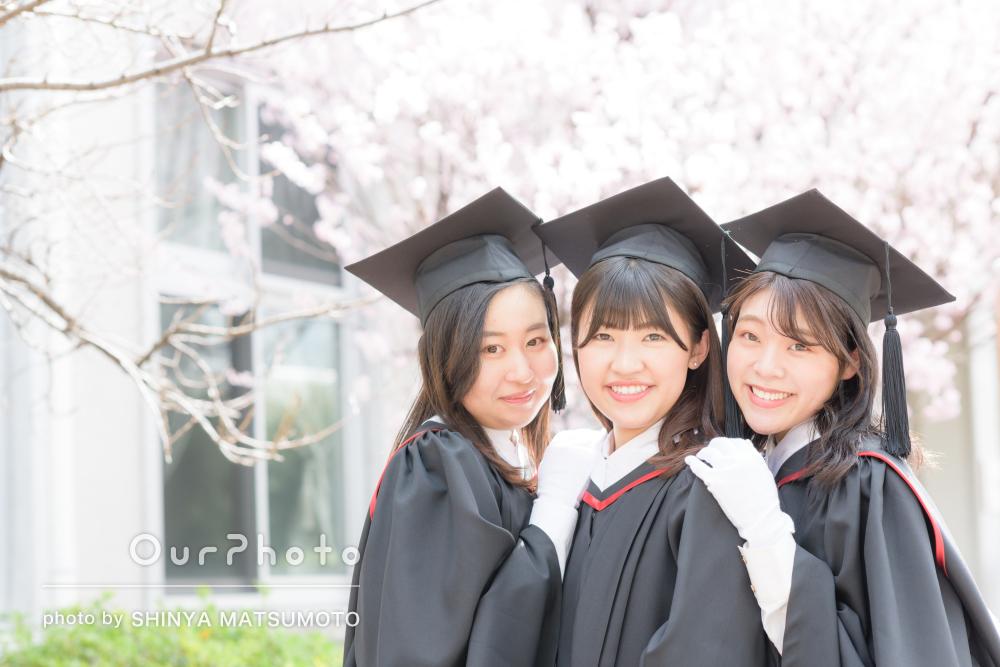 「お伝えした雰囲気に沿って丁寧に撮影」卒業記念写真の撮影