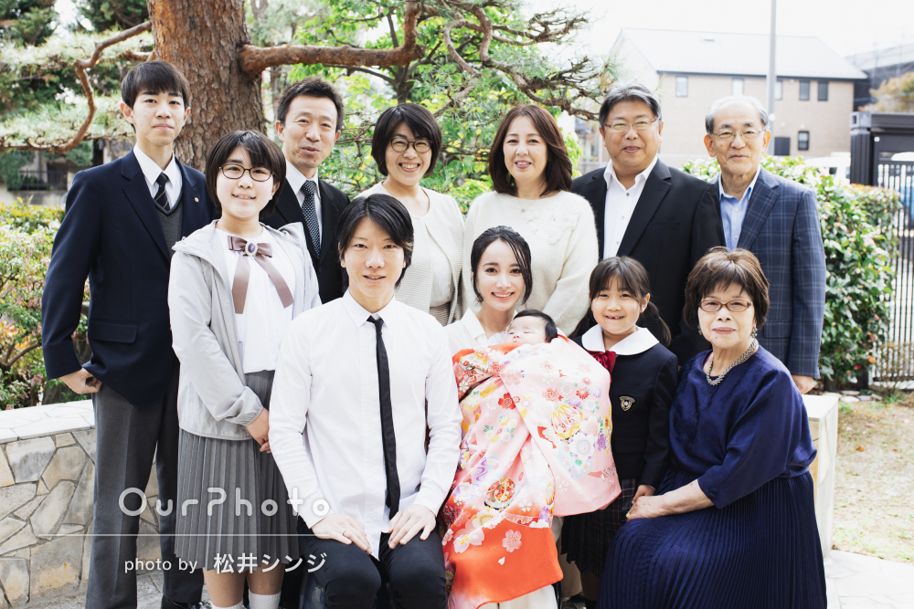 「手際よく良い写真」お食い初め&卒園記念に家族写真の撮影