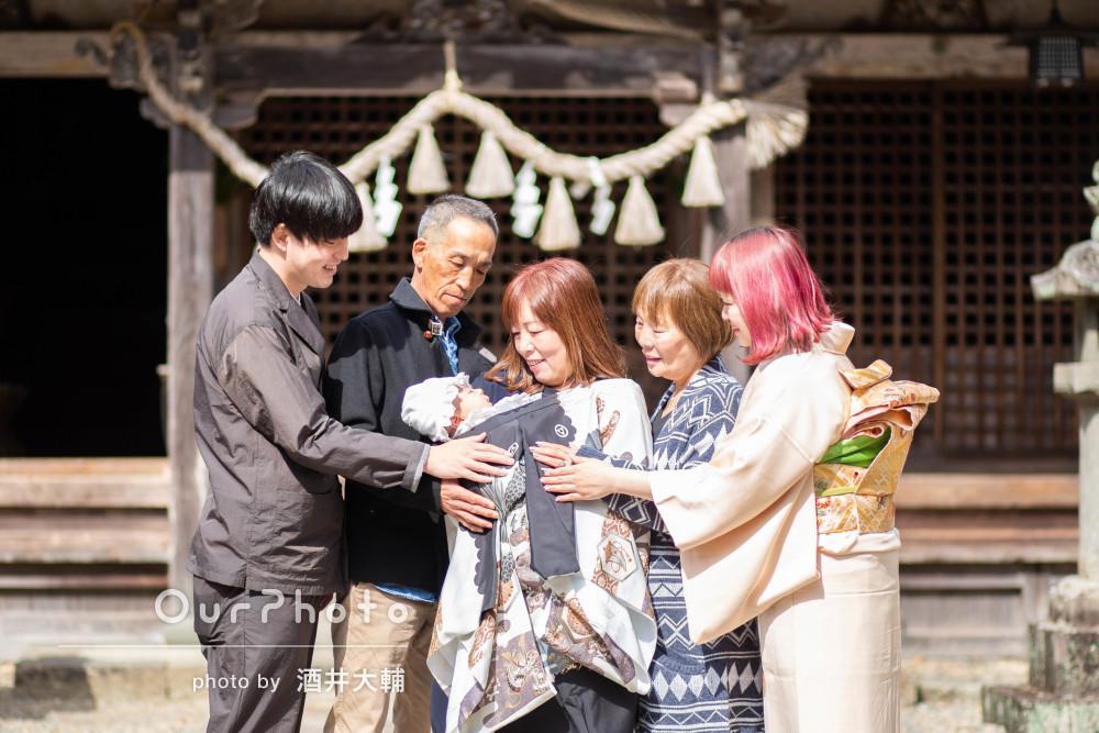 「何度も見返したくなるような写真」祖父母も一緒にお宮参りの記念撮影
