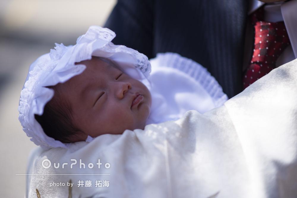 新たな家族の誕生に幸せと喜びいっぱい!ご家族のお宮参りの撮影