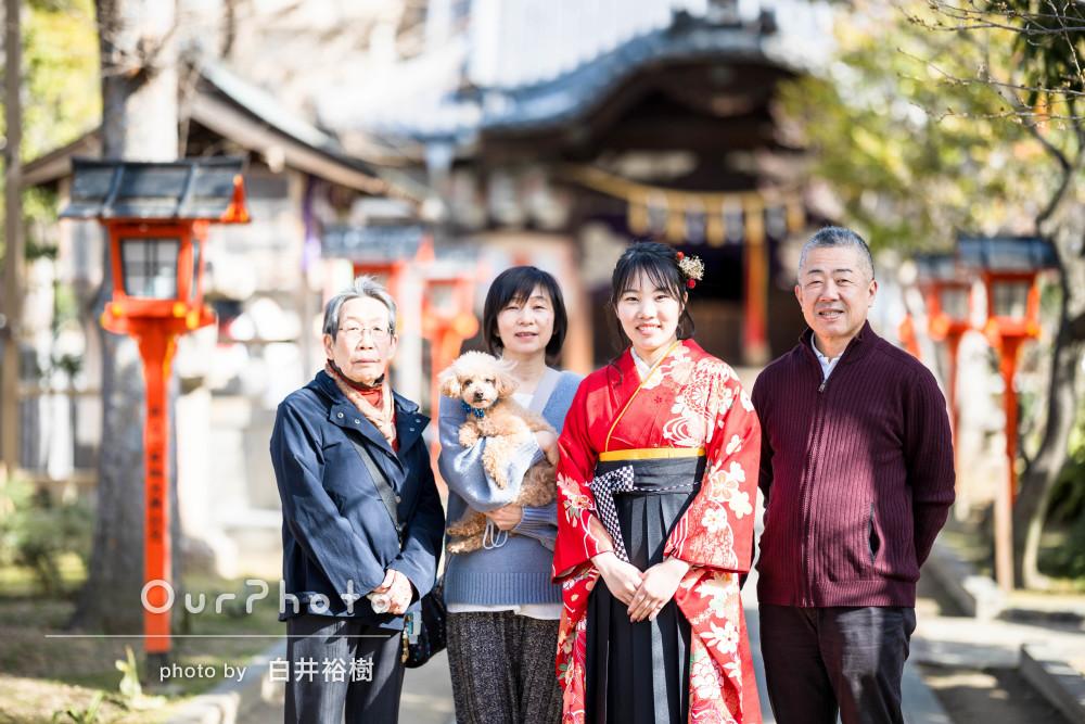 「本当に素敵な写真ばかりで感動してます」卒業記念の家族写真の撮影
