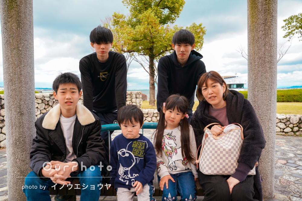 「いい写真をたくさんいただけて大満足」5人兄弟そろって家族写真の撮影