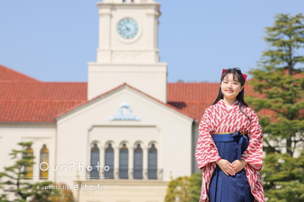 「思い出をより綺麗に残してくれる」大学キャンパスで卒業記念写真の撮影