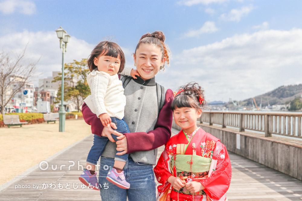 「笑顔の絶えない楽しい1日を過ごす事が出来ました」家族写真の撮影