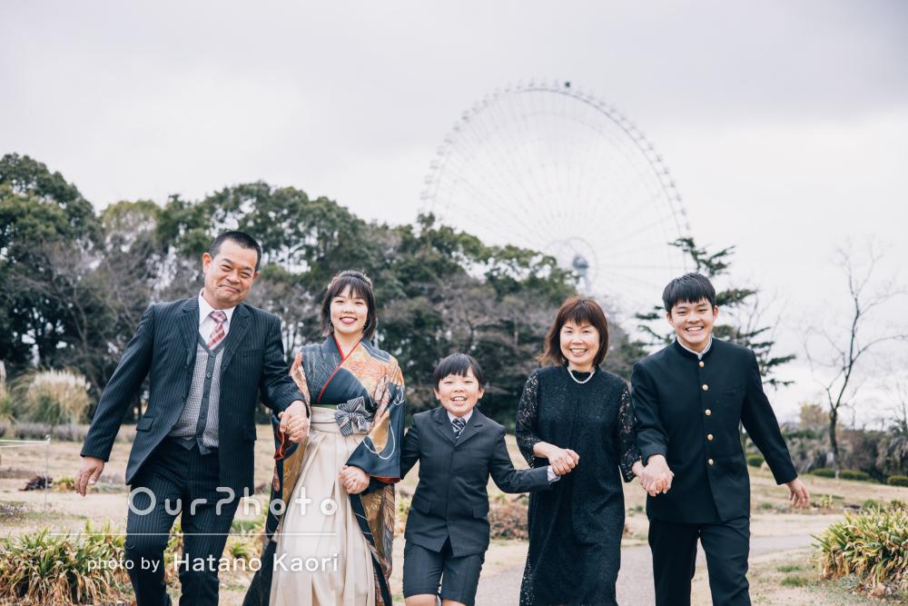 「ご配慮もとても嬉しかったです」娘さんの大学卒業記念に家族写真の撮影