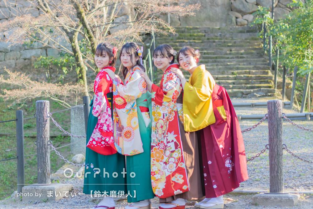 「とても楽しい撮影になりました」美しい袴姿で仲良く友フォトの撮影