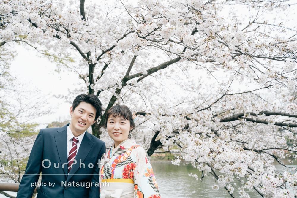 「いつも通りの2人の自然な表情に溢れた写真」卒業カップルフォトの撮影