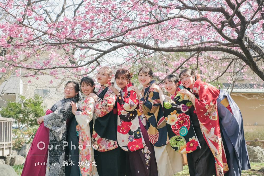 卒業記念に袴姿でたくさんの友達と最高の思い出を!友フォト撮影