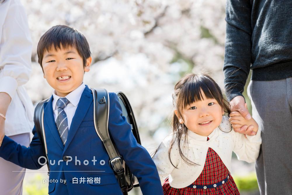 「周りの人がほとんどうつっておらず感動」入学記念に家族写真の撮影