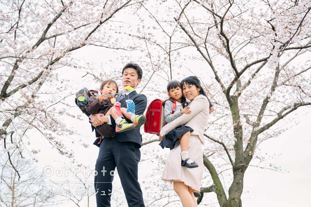「満足出来る写真を撮って頂きありがとうございました」家族写真の撮影