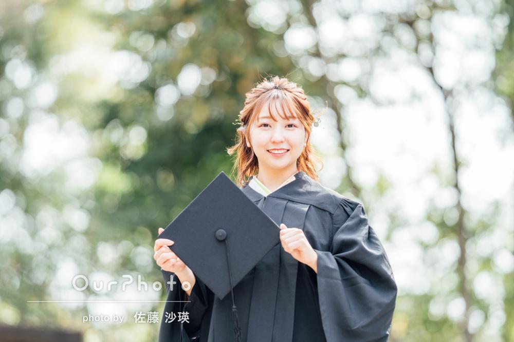 「いろいろな提案をして、とても良い写真に」卒業記念写真の撮影