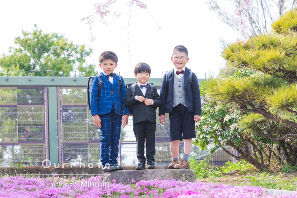 「撮影の間も子供たちはとても楽しそう」入学のお祝いに友フォトの撮影