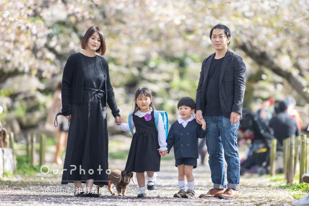「あっという間に時間が過ぎて楽しく撮影出来ました」家族写真の撮影