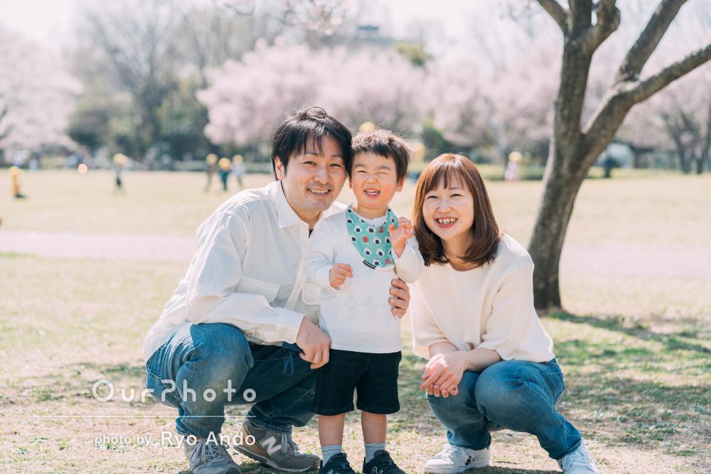 「何気ない瞬間も多く撮っていただいて、良い思い出」家族写真の撮影